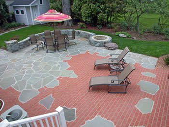 Custom Patio and Firepit in an Arlington Home